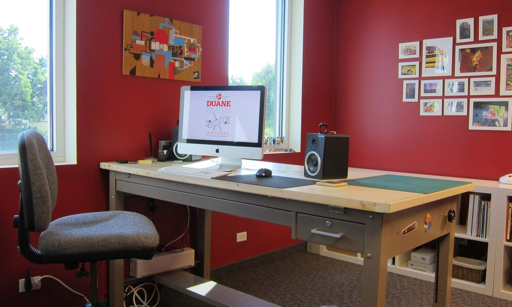 Design Business: My first studio space, a tiny 390 sqft office in Dallas, TX (2011)