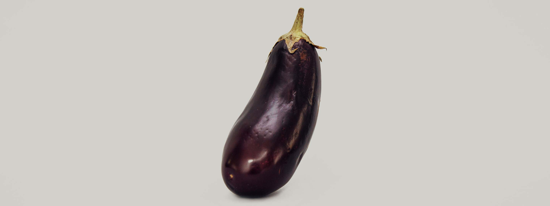 Photo of an eggplant