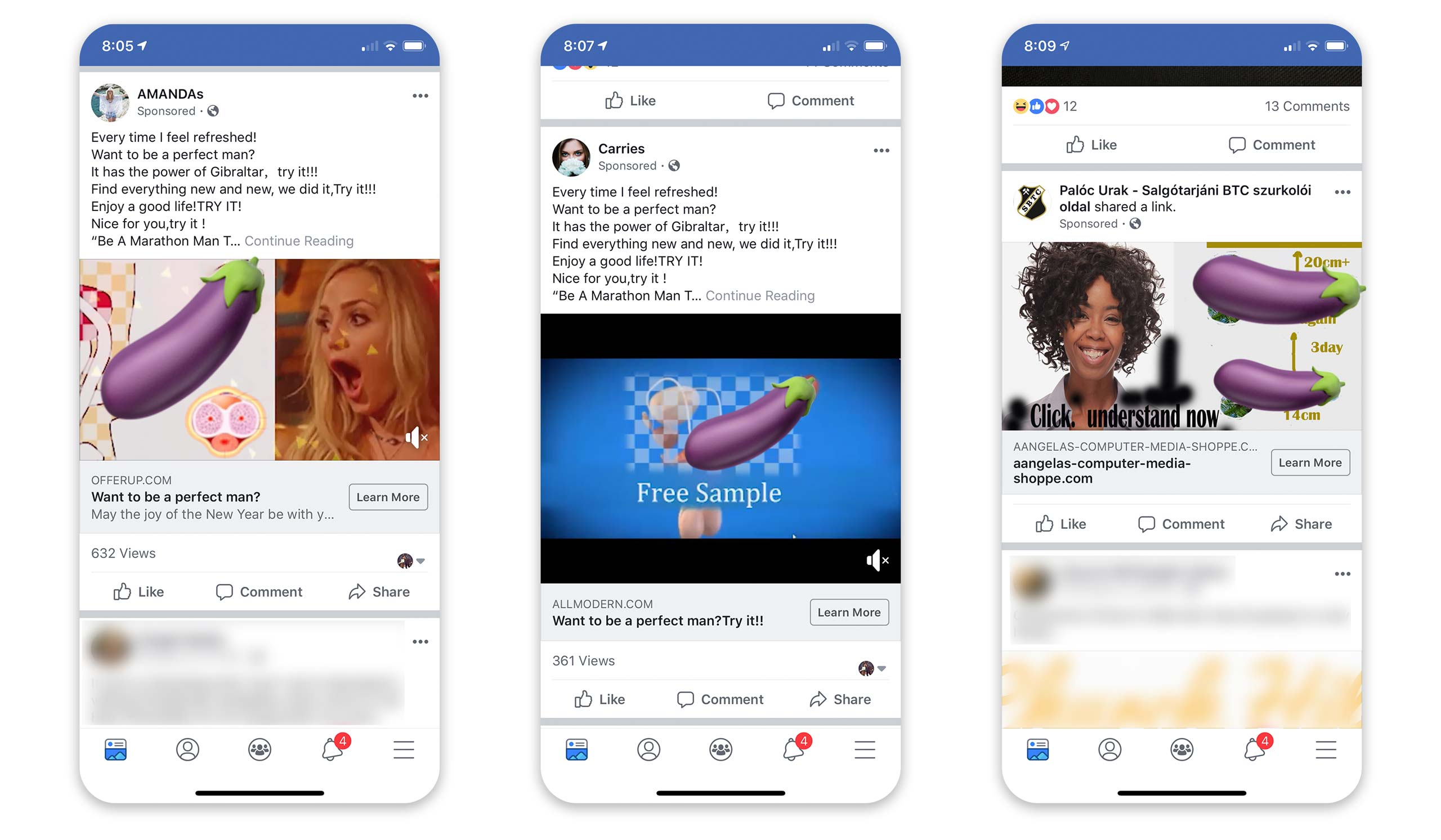 Facebook ad screenshots 3