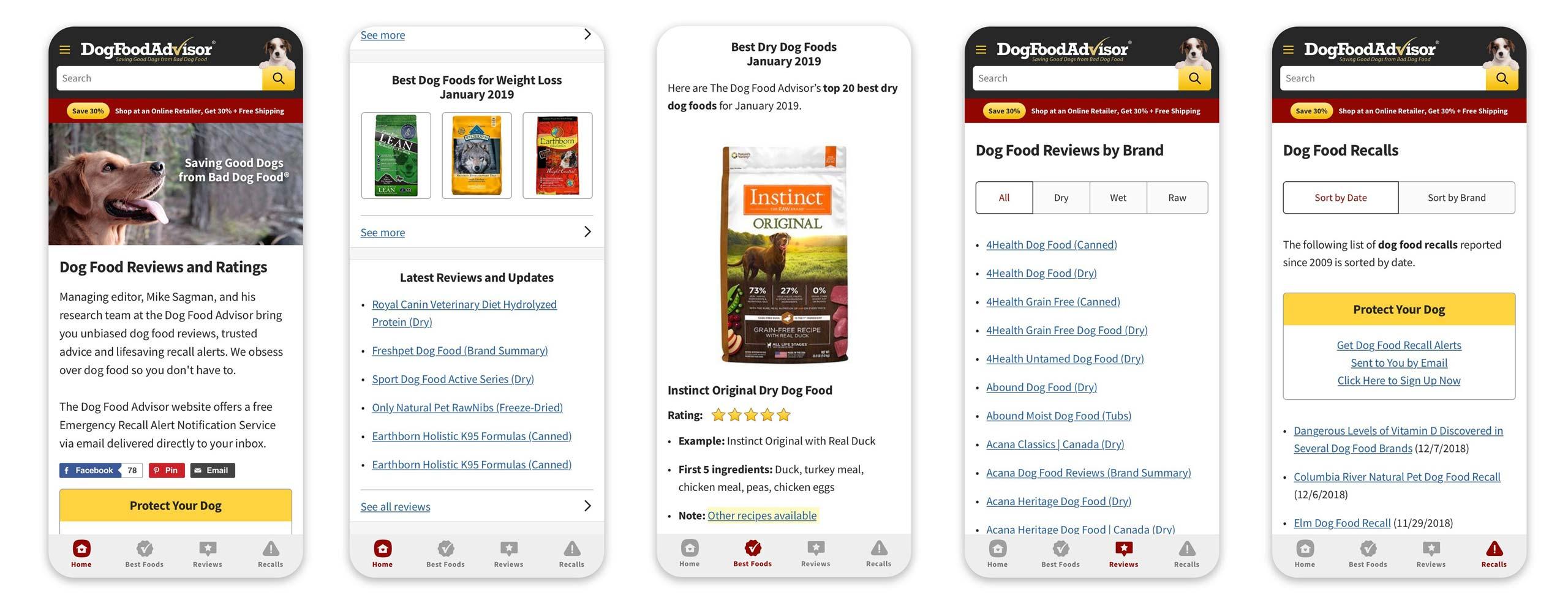 Dog Food Advisor Progressive Web App