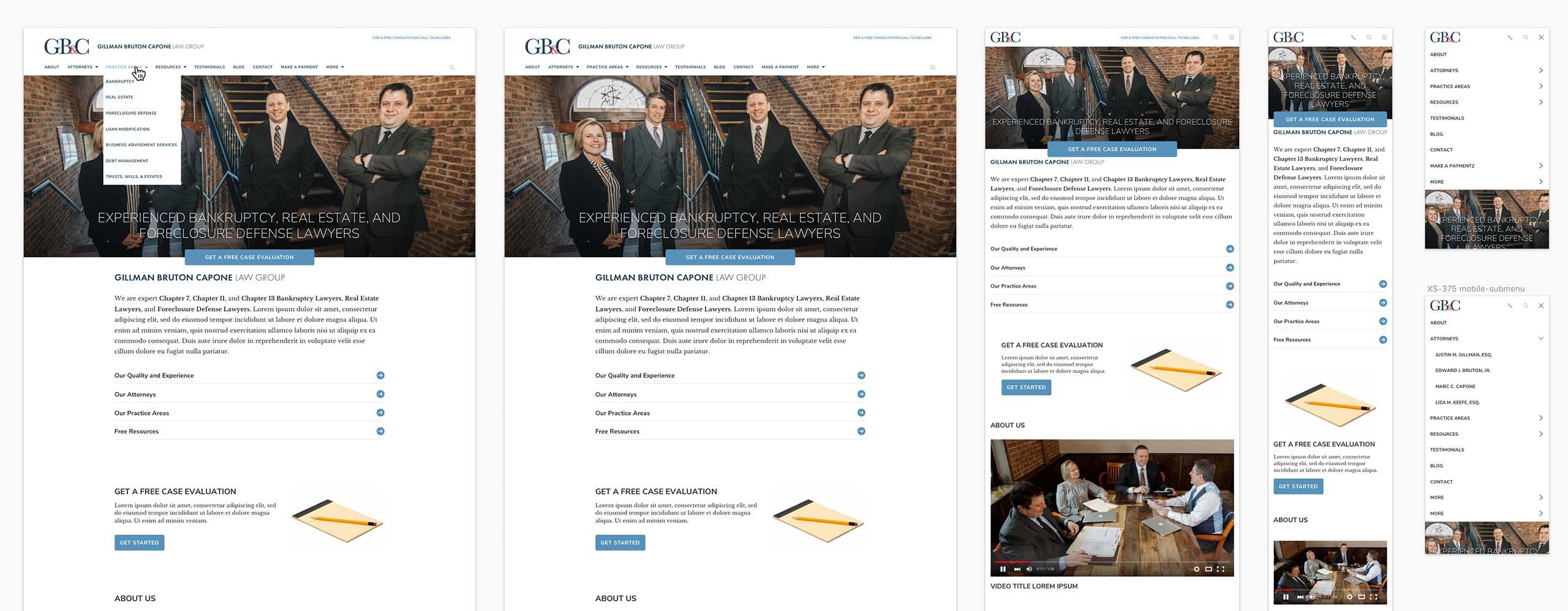 Website User Interface Design