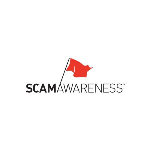 portfolio item, logo, scam awareness