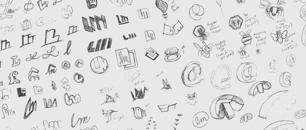 logo design thumbnail sketches