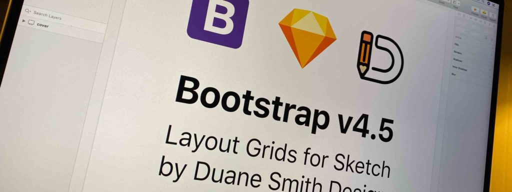 Bootstrap v4.5 Layout Grids for Sketch by Duane Smith Design